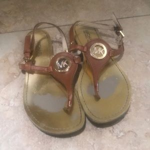 Michael Kors Flat Leather Sandal size 7
